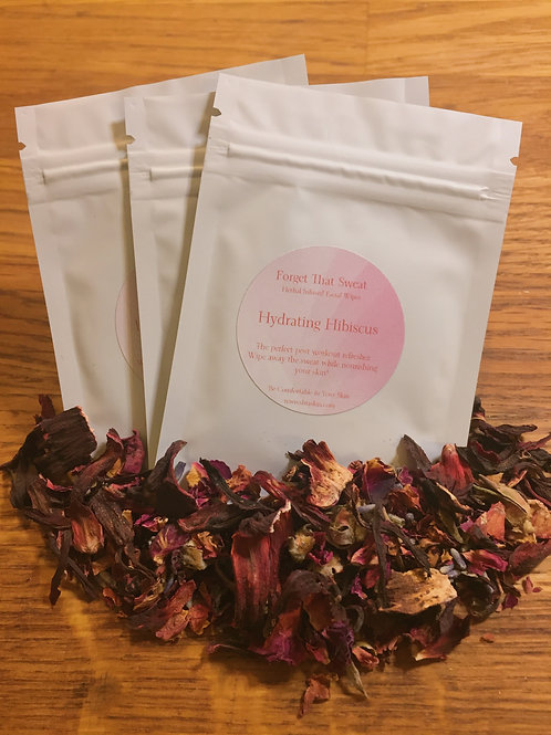 Hibiscus Infused Facial Wipes