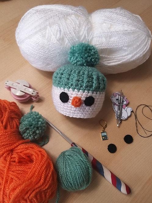 Crochet snowman Chocolate Orange Cover, YouTube Version