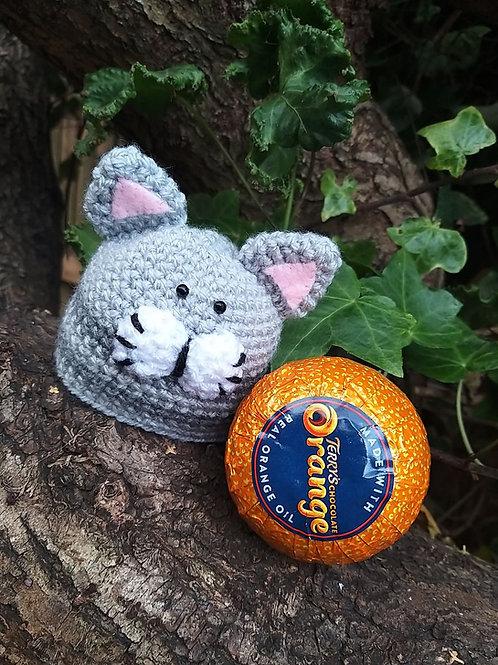 Cat head chocolate orange cover crochet pattern YouTube Version