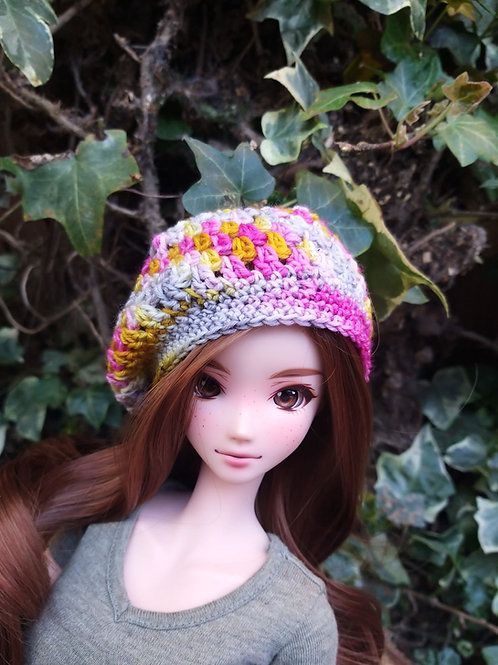 Crochet Pattern,  Slouch Beanie for Smartdoll in 4ply sock yarn