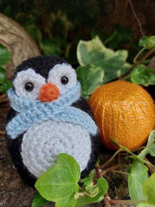 Crochet pattern for Penguin Chocolate orange cover UK Terms