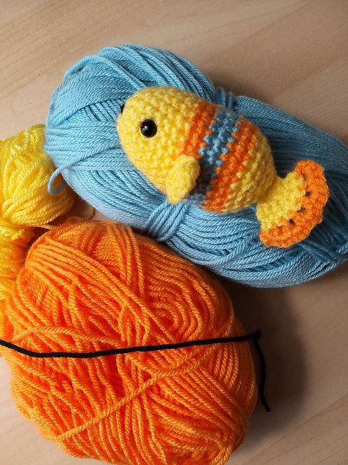 Crochet Amigurumi fish / Cat Toy