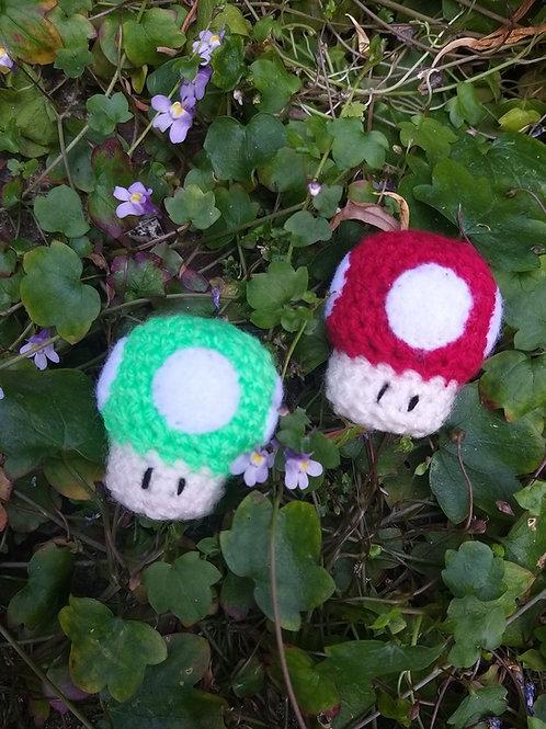 Amigurumi crochet mushroom 2 colours to choose from