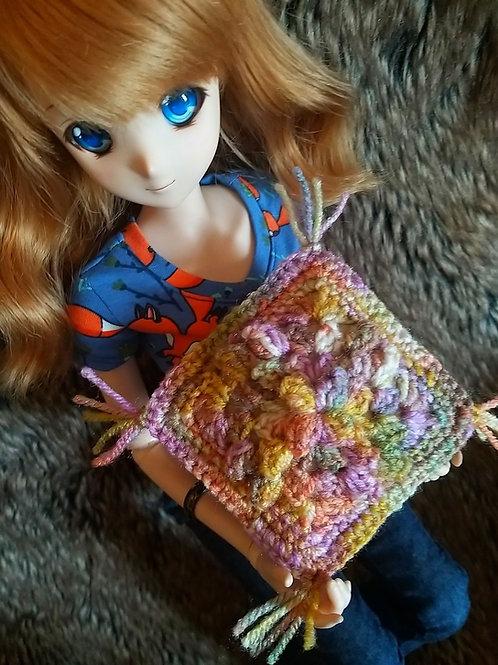 Hand crochet cushion for your dolls home decor
