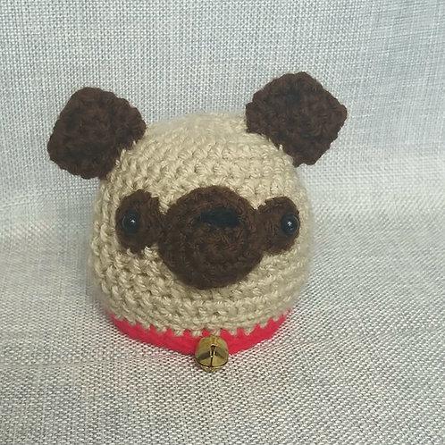 Cute Pug dog crochet Chocolate orange cover Youtube version