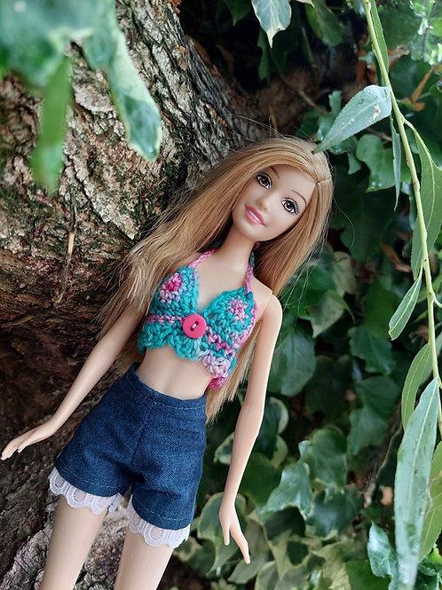 Crochet Pattern for a Barbie Doll Sun top
