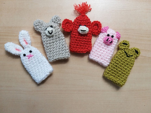 Quick and Easy animal crochet finger puppets