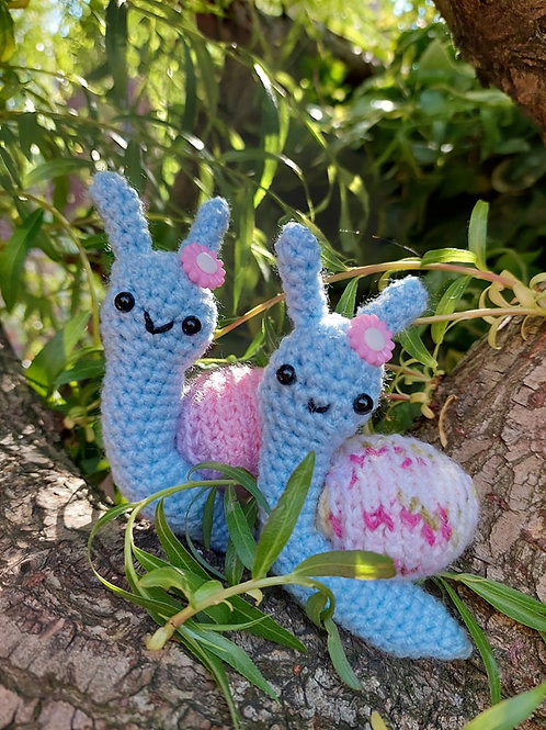 Amigurumi crochet snail pattern  UK terms