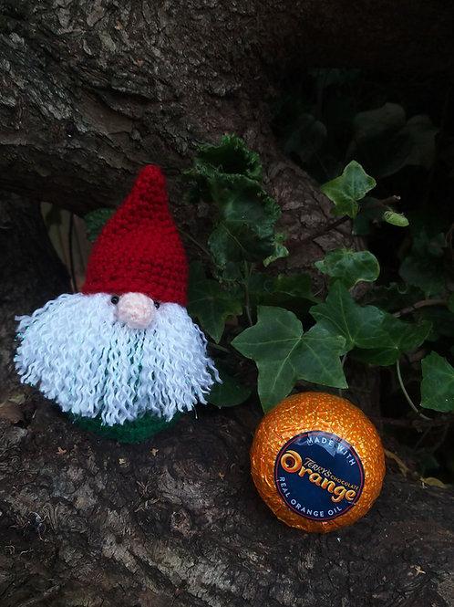 Gnome Chocolate Orange cover crochet pattern