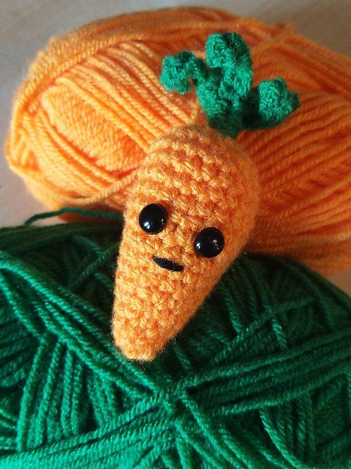 Easy Amigurumi carrot crochet pattern