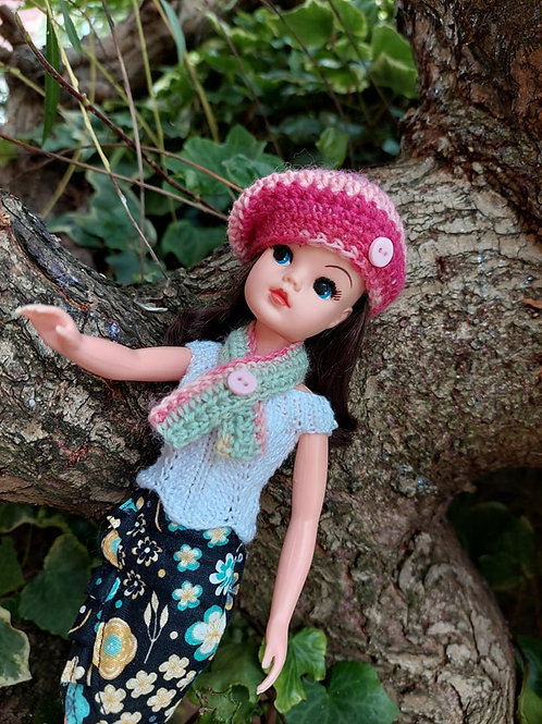Crochet Pattern for Sindy doll hat and scarf