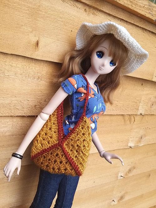 Smartdoll Granny Square Boho Style Bag Crochet Pattern, YouTube version
