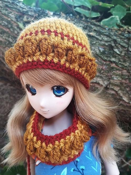 Smartdoll Bobble edge beanie and scarf set Crochet pattern