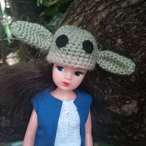 Yoda inspired hat to fit Sindy doll