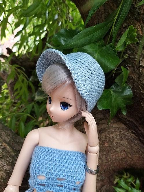 Smartdoll crochet peak cap pattern