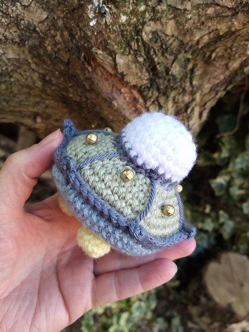 Crochet Pattern for Amigurumi Spaceship UFO UK terms