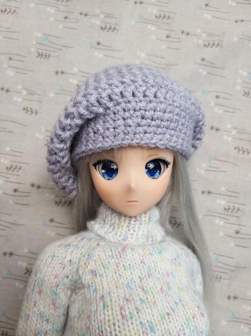 Smartdoll Slouch beanie hat crochet pattern, Youtube version