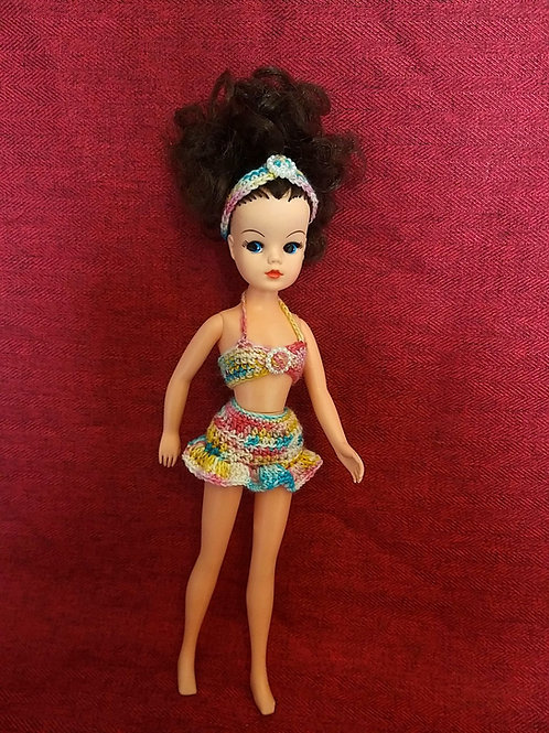 Sindy Doll 3 piece crochet sun outfit