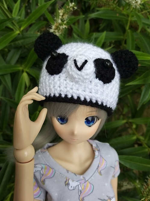 Smartdoll crochet panda hat pattern, YouTube version