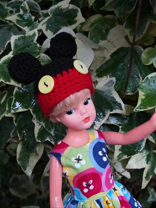 Mouse hat for Sindy