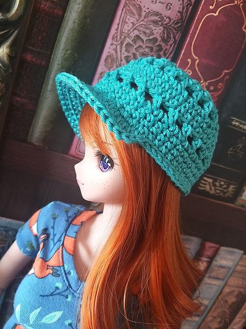 Crochet pattern for a Smartdoll peak cap