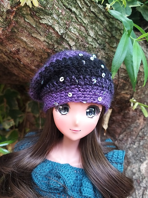 Slouch sequin beanie for Smartdoll