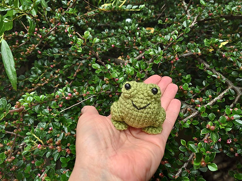 Amigurumi frog YouTube version