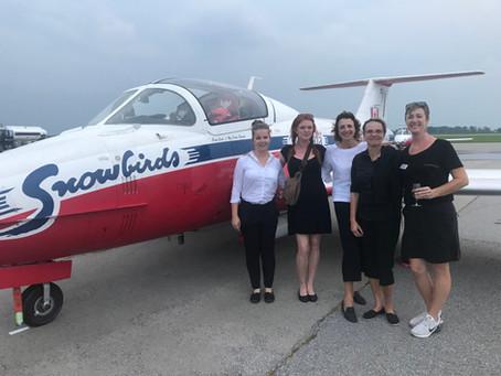 Snowbirds Visit Niagara