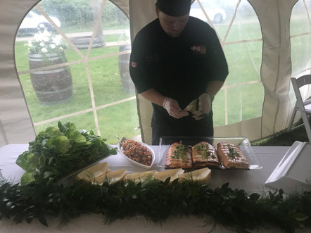 Chef Drew at Food Station