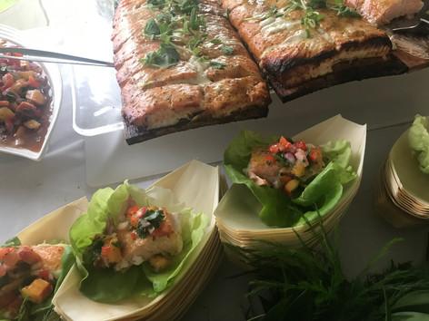Cedar Plank Salmon Lettuce Wraps
