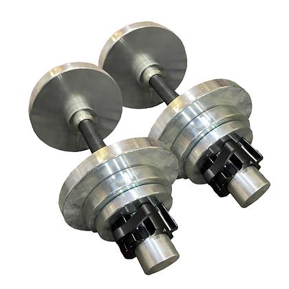 Steel Adjustable Dumbbells 24kg Zinc Coating