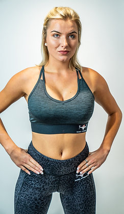 Slate Grey Performance Sports Bra