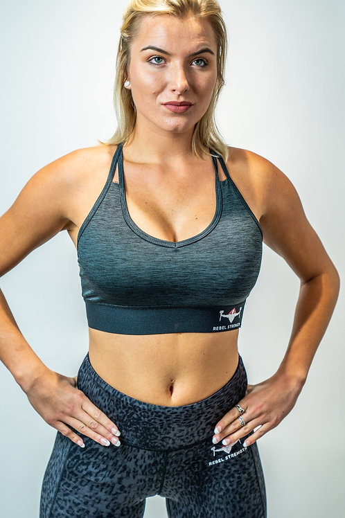 Slate Grey Performance Sports Bra