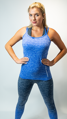 Blue Marl Seamless Vest Top