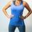 Thumbnail: Blue Marl Seamless Vest Top