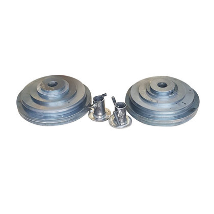 "Complete 2"" Weight Plate Set & Collars (160.5Kg)"