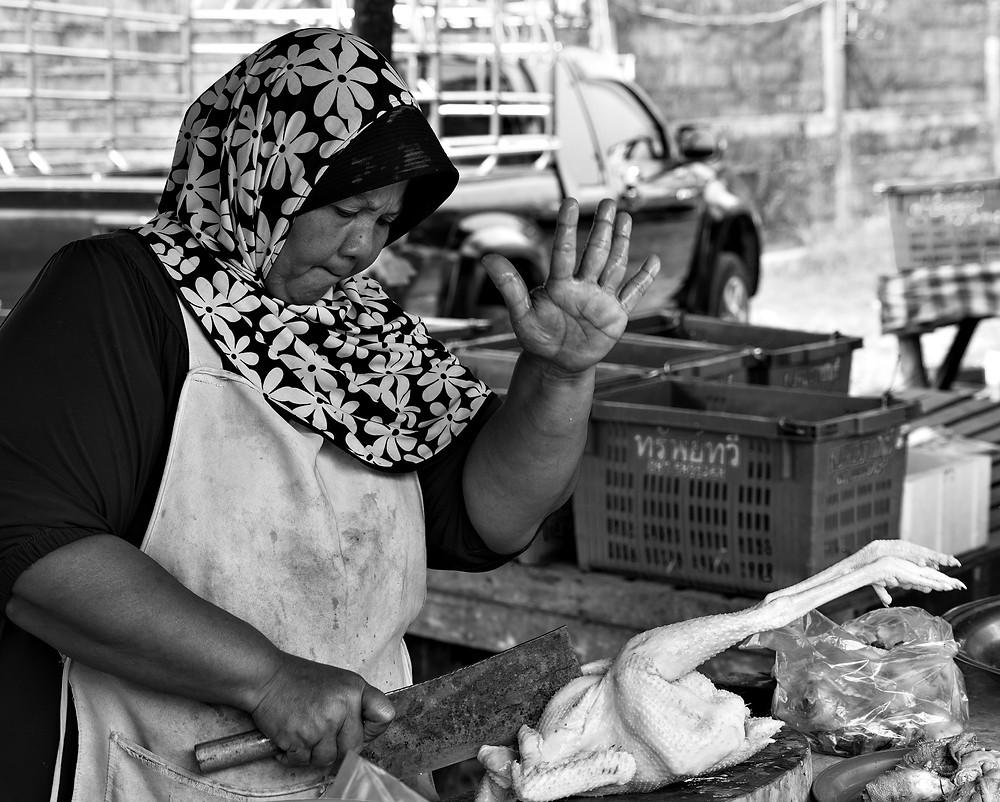 auf dem Markt in Bangkok