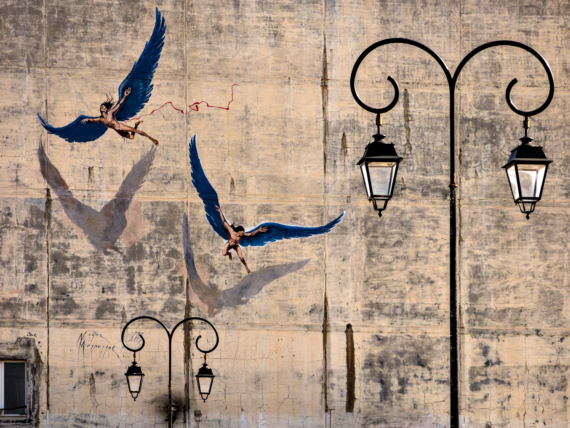 streetart Ikarus