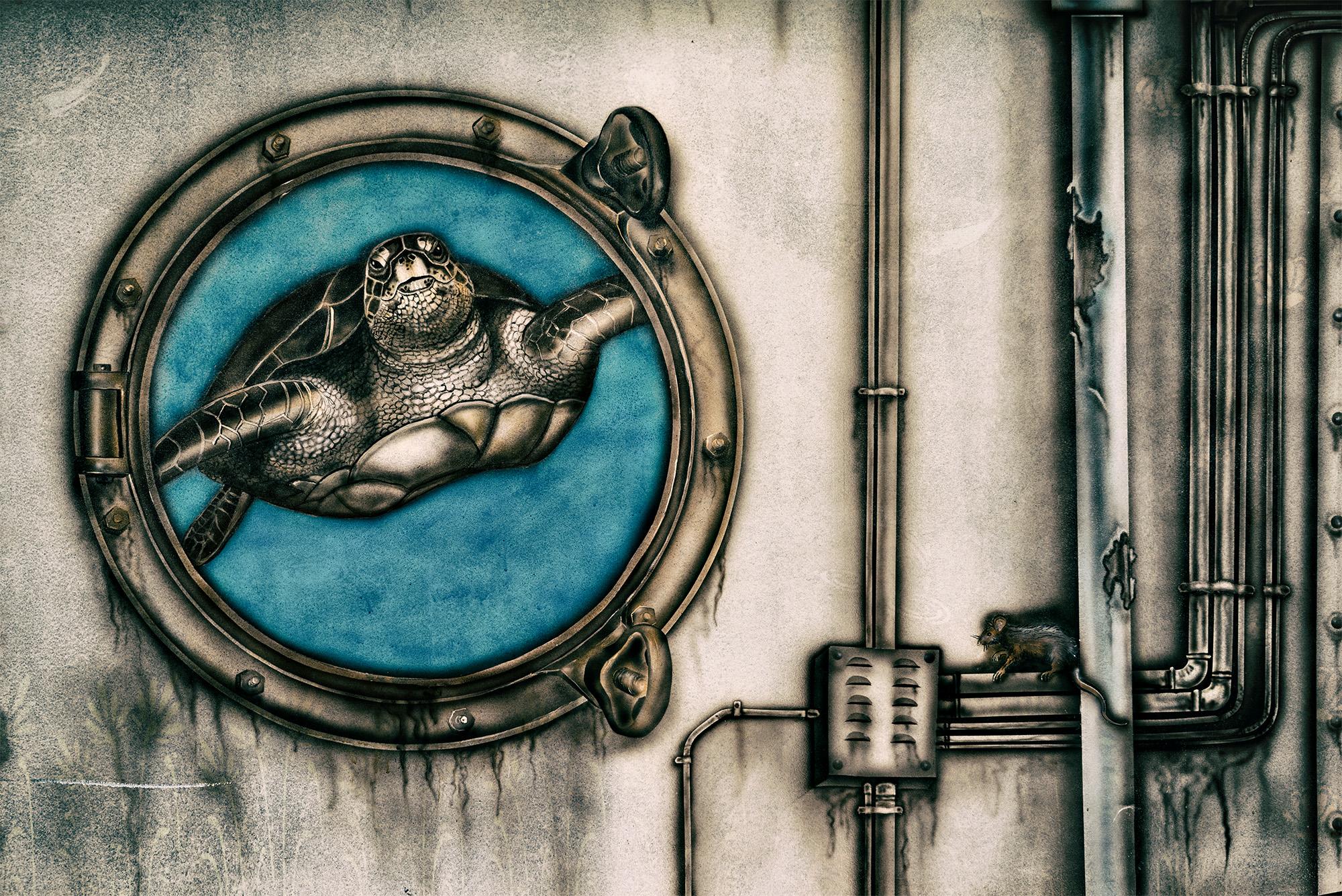 streetart - Aussicht im U-boot