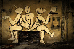 streetart - die drei Affen...