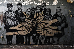 streetart - Armut und Zusammenhalt..