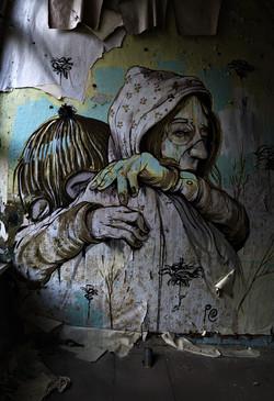 streetart - Mutter und Kind