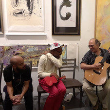 Jamming at Gallery Opening