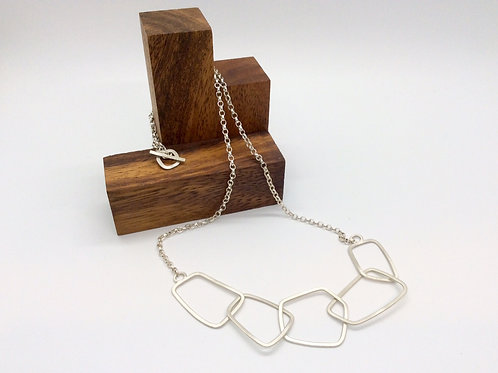 """Chain Reaction 6"" Silver Chain Necklace"