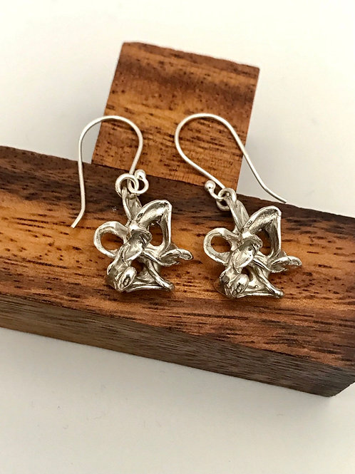 """Lily"" Sterling Silver Earrings."
