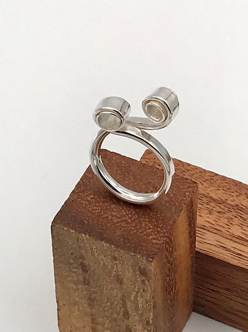 """Twist"" Sterling Silver Ring."
