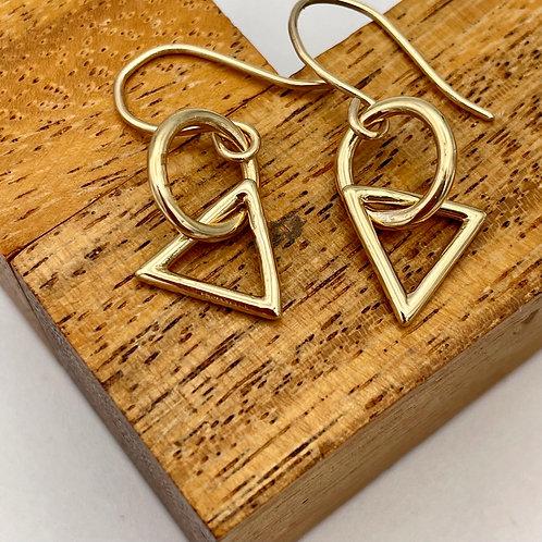 """Entwine in gold"" Handmade Gold Earrings"