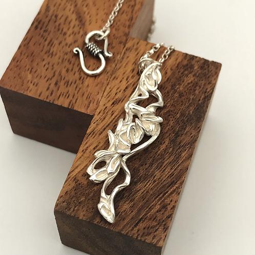 """""""Cascade"""" Silver Pendant."""