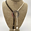 "Thumbnail: ""Strands 2L""  Natural Gemstone Bead Necklace with Silver Centrepiece"
