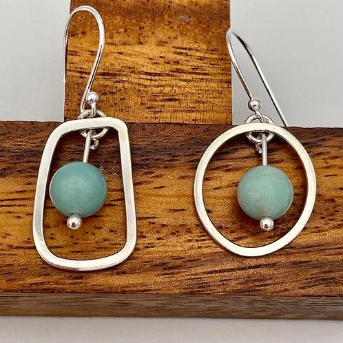 """Converse 2"" Handmade Silver Earrings"